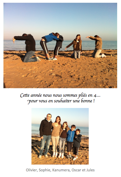 Carte de voeux photo